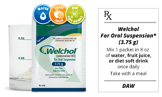 Welchol® packet for oral suspension